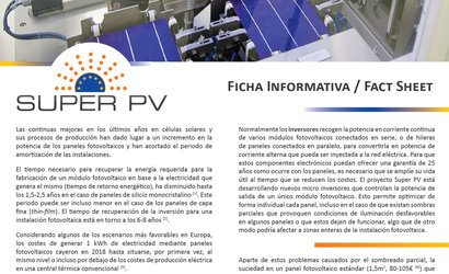 SUPER PV fact sheet (Spanish version)