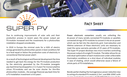 SUPER PV fact sheet